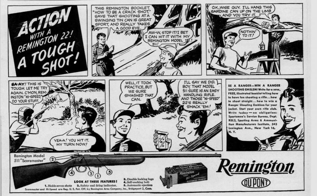 Remington Ad - A Tough Shot