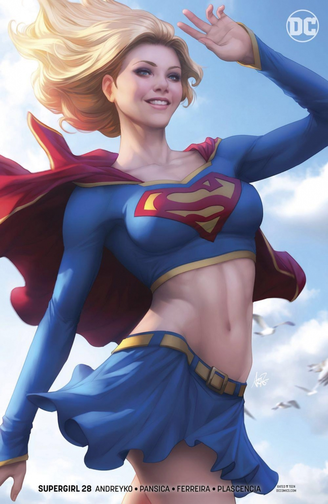 Supergirl #28 Alternative Cover by Stanley Lau