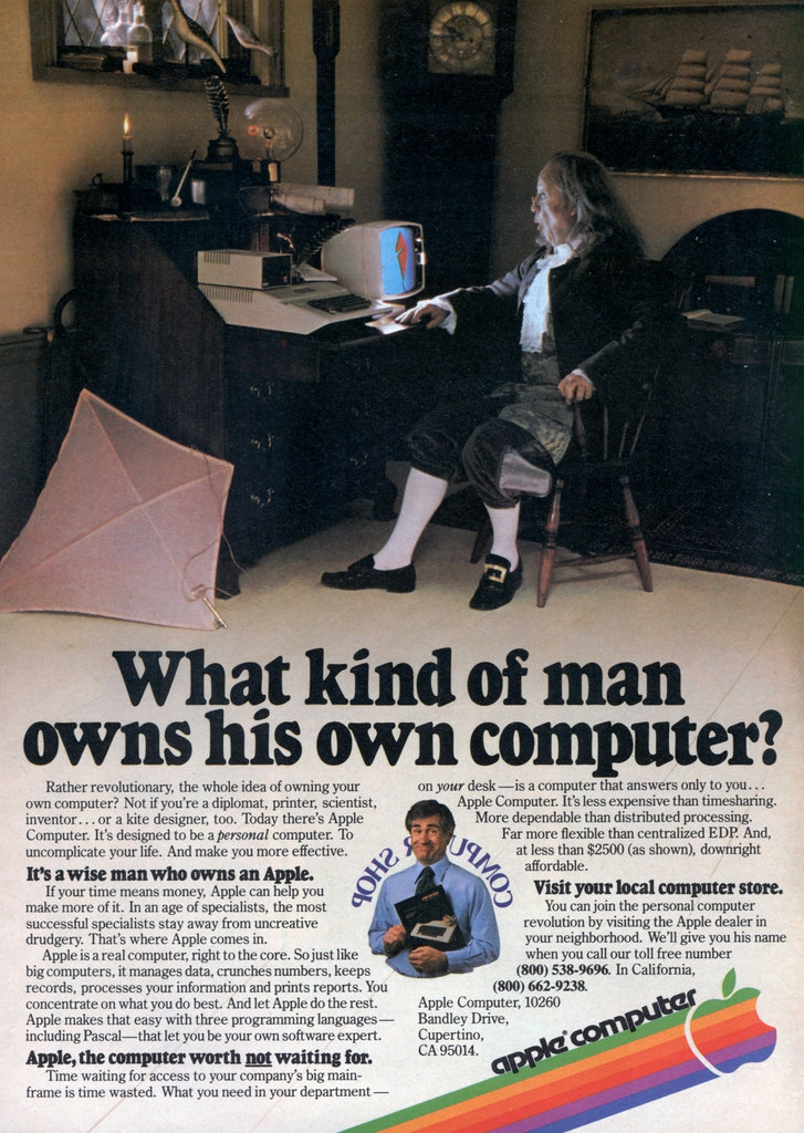 1979 Apple Ad - What Kind of Man Owns His Own Computer?