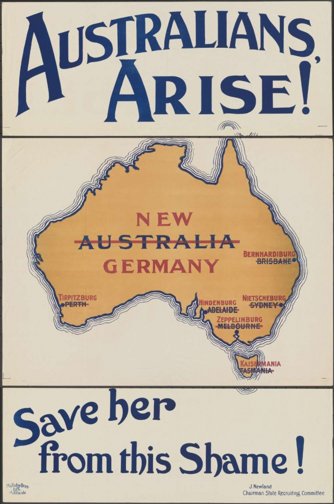 World War I Propaganda Poster - Australians Arise!
