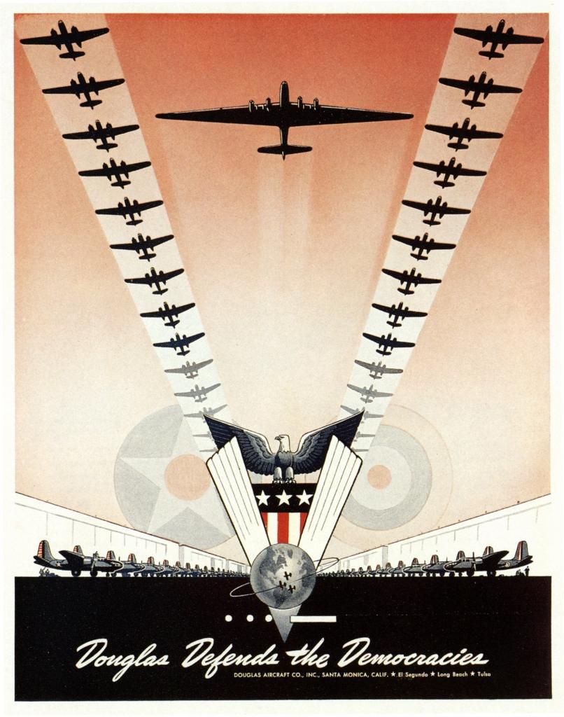 Propaganda Poster - Douglas Defends the Democracies