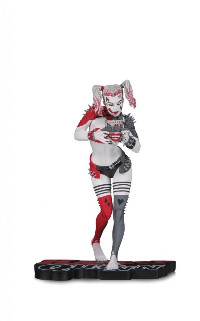 Harley Quinn Red, White & Black Statue by Greg Horn