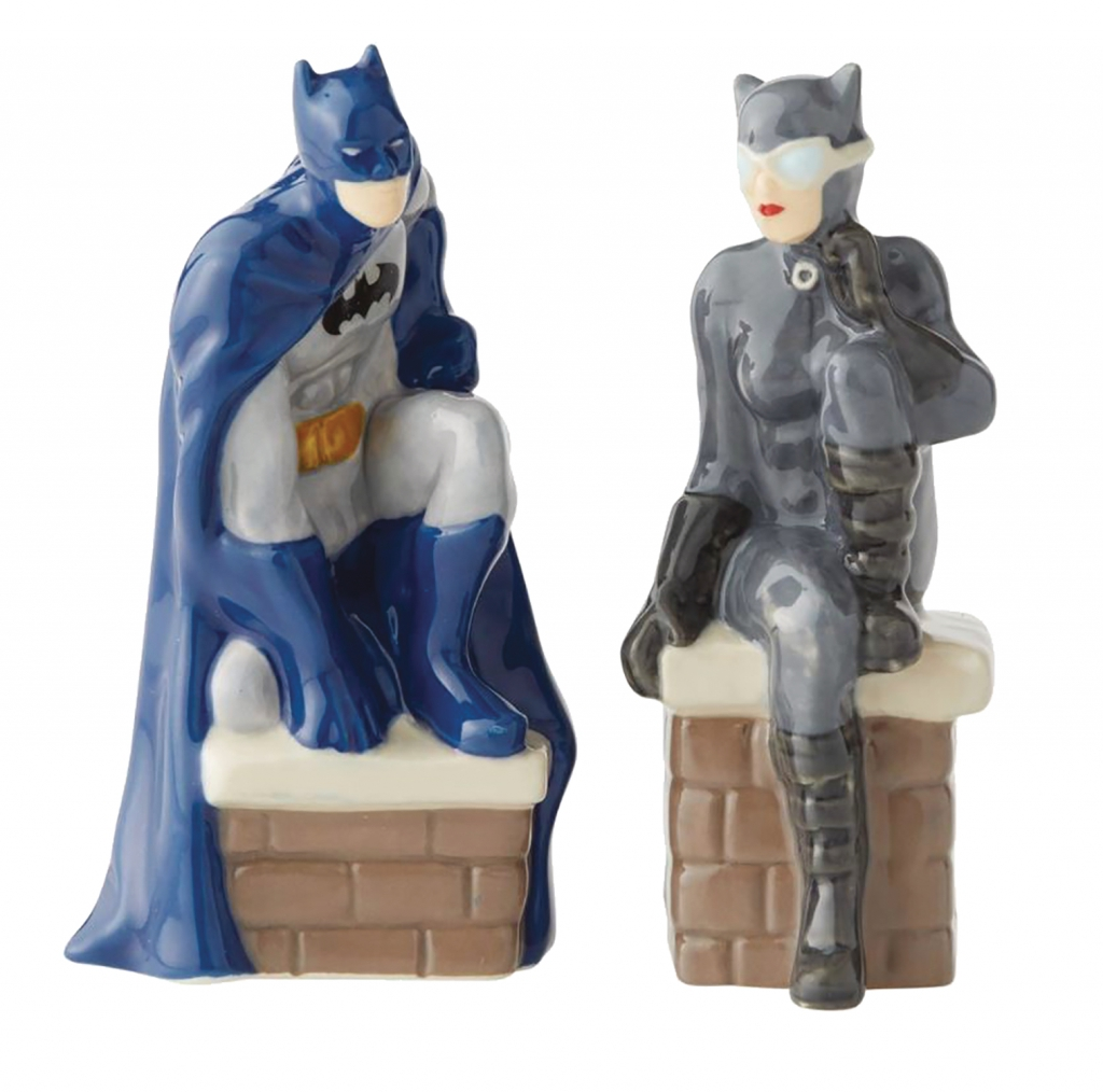 Batman and Catwoman Salt & Pepper Shaker Set