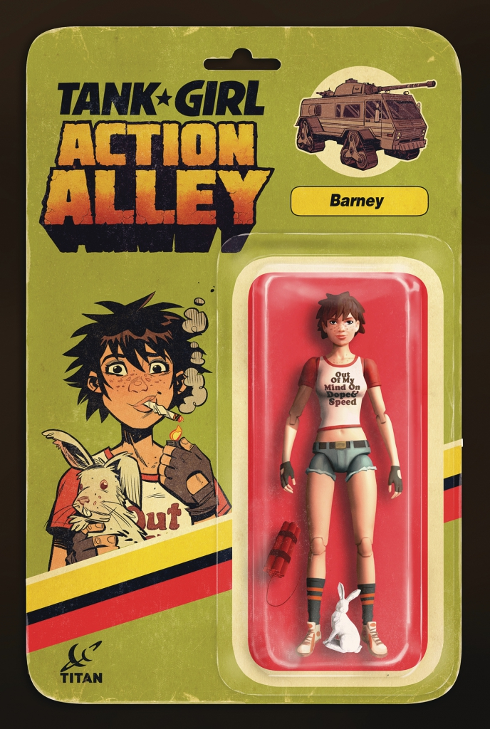 Tank Girl Action Alley #3 - Barney Action Figure Variant Cover