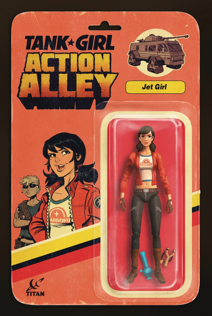 Tank Girl Action Alley #4 - Jet Girl Action Figure Variant Cover
