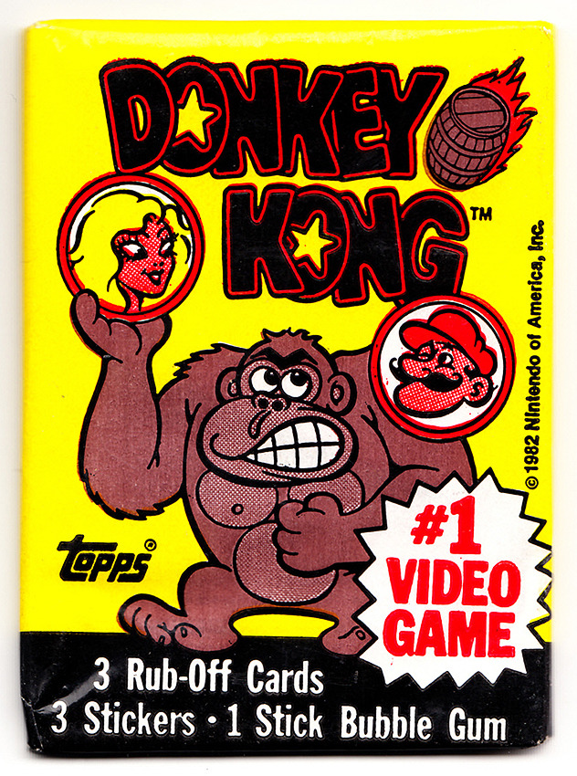 Topps Donkey Kong Wax Pack