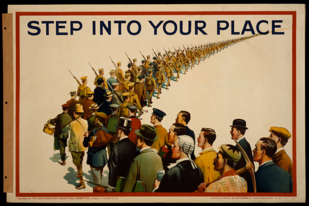 World War I Propaganda Poster - Step Into Your Place