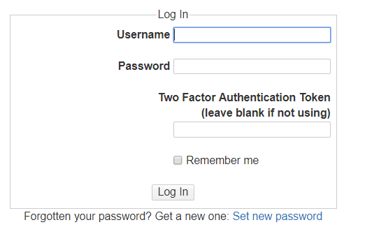 DokuWiki 2FA-enabled Login Page
