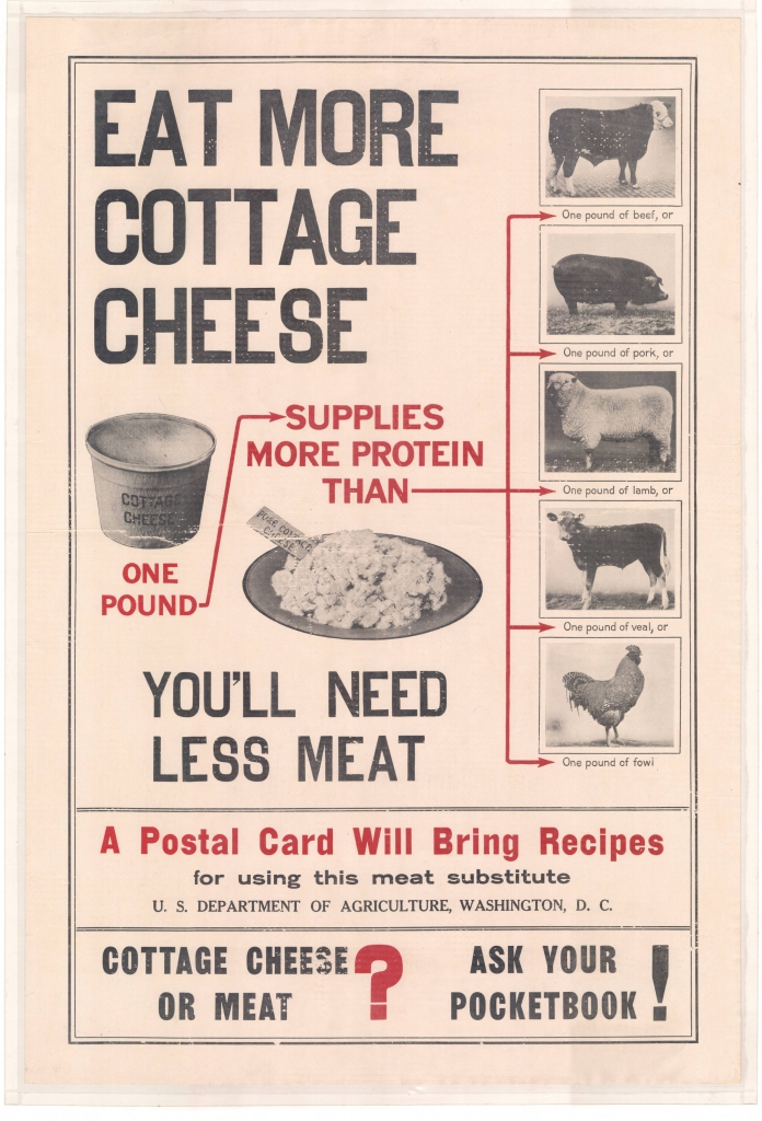 World War I Propaganda Poster - Eat More Cottage Cheese