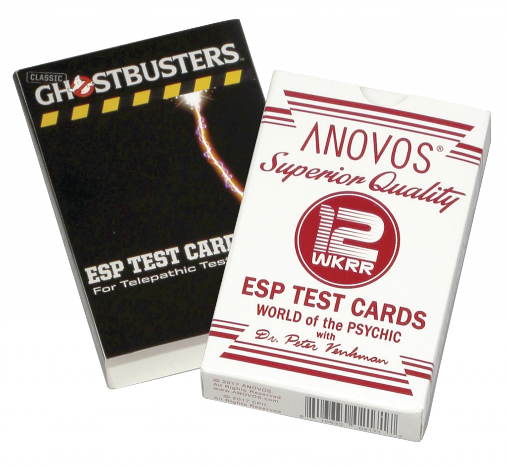 Ghostbusters Dr. Venkman ESP Test Card Game