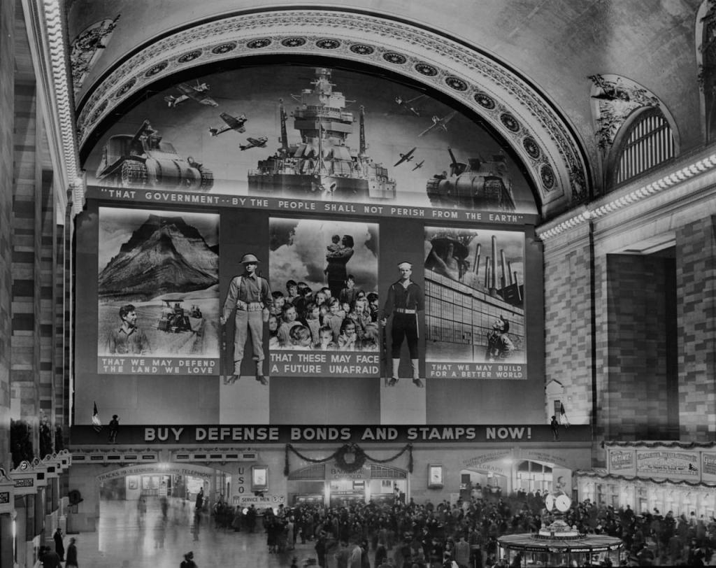Grand Central Station - Buy War Bonds Poster