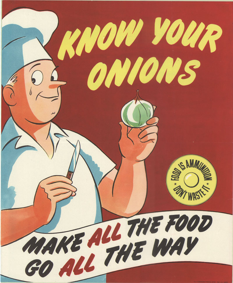 World War II Propaganda Poster - Know Your Onions