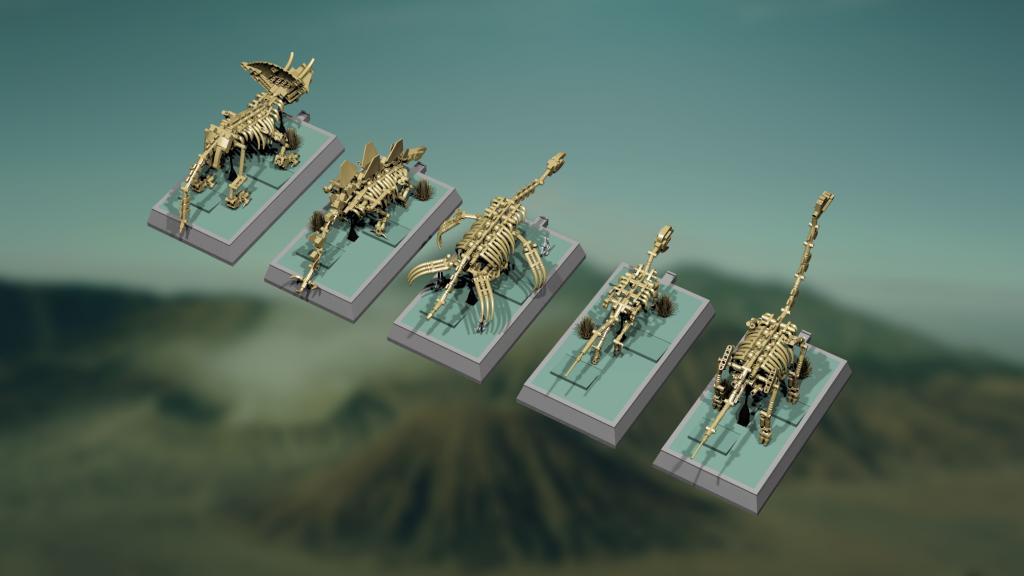 Lego Dinosaur Fossil Skeletons