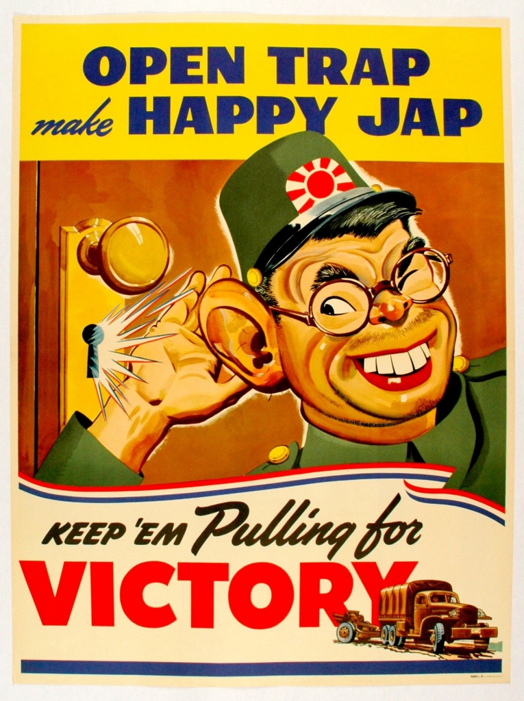 World War II Propaganda Poster - Open Trap Make Happy Jap