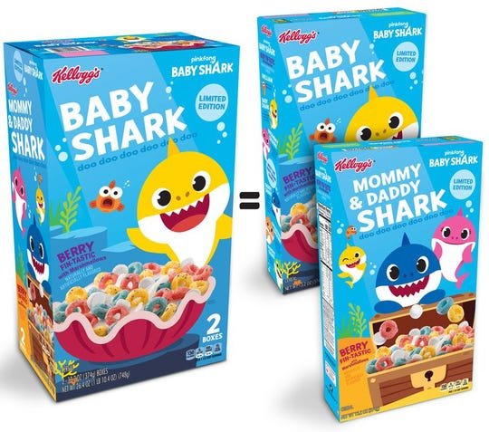 Baby Shark Cereal by Kelloggs