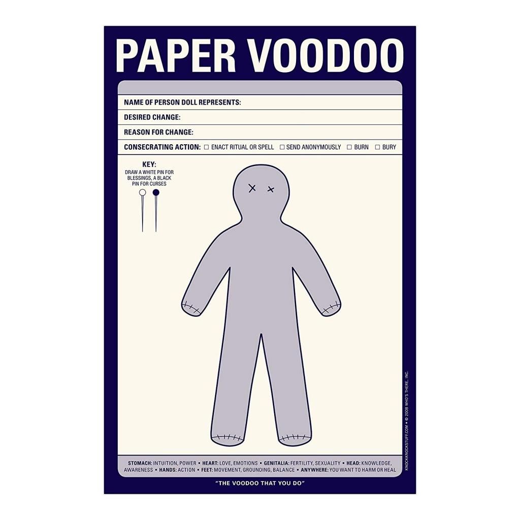 Knock Knock Paper Voodoo Pads