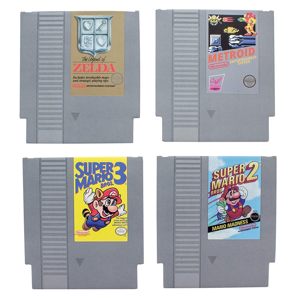 Nintendo NES Game Cartridge Drink Coasters
