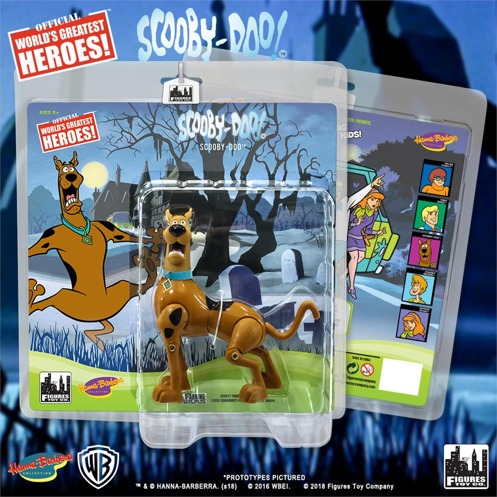 Figures Toy Co. Retro Scooby Doo Action Figures - Scooby Doo, Scared Variant