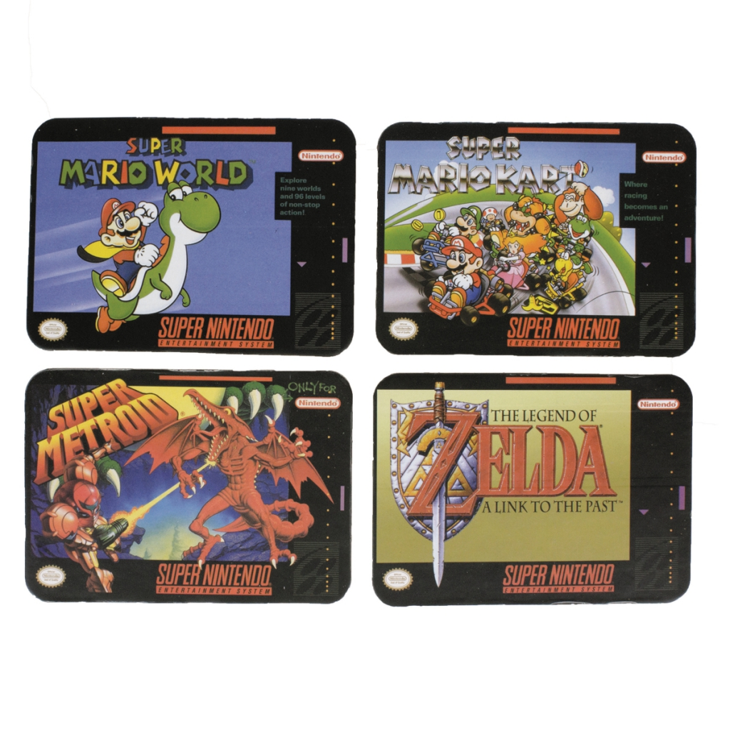 Super NES Game Coasters
