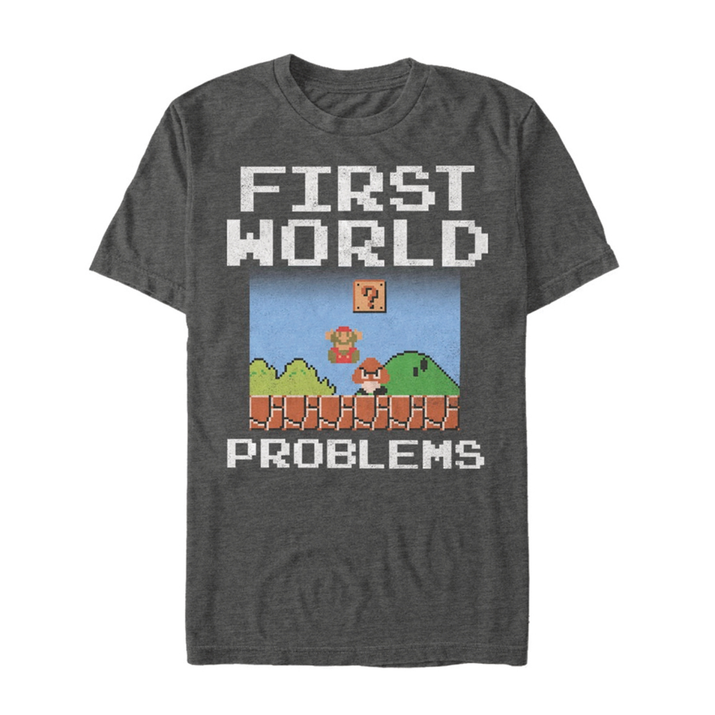 Super Mario First World Problems T-Shirt