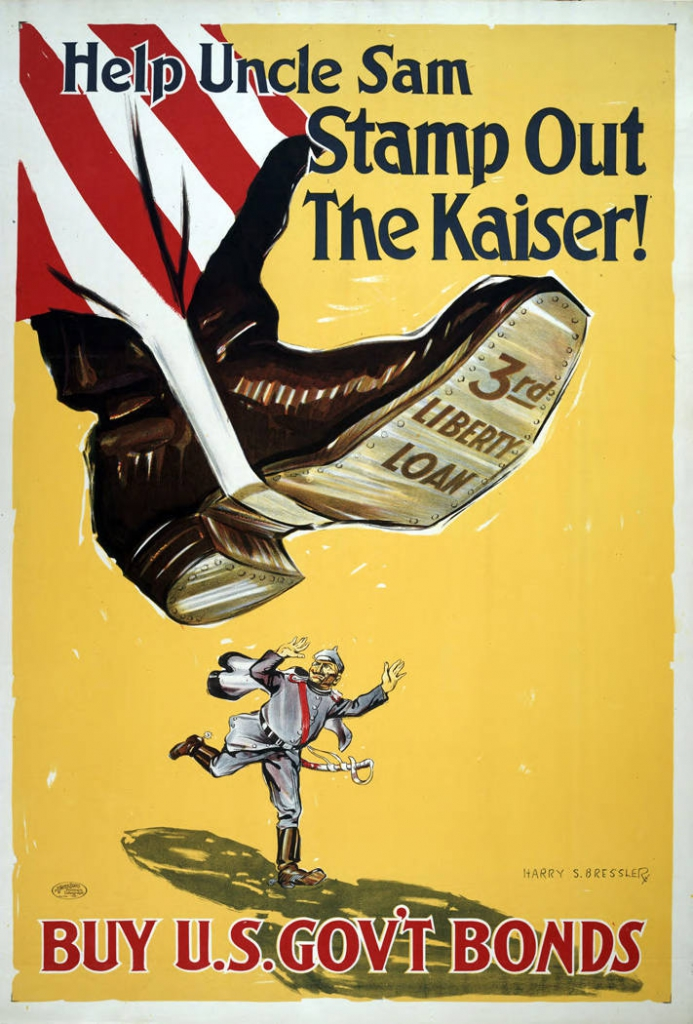 World War I Propaganda Poster: Help Uncle Sam Stamp Out the Kaiser!