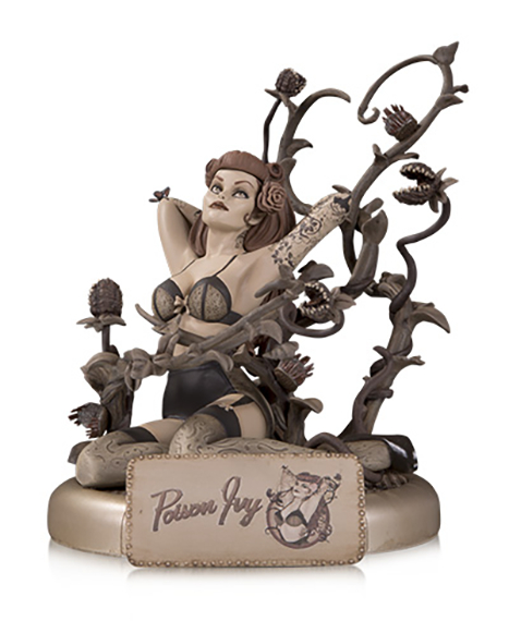 DC Bombshells Poison Ivy Sepia Tone Statue