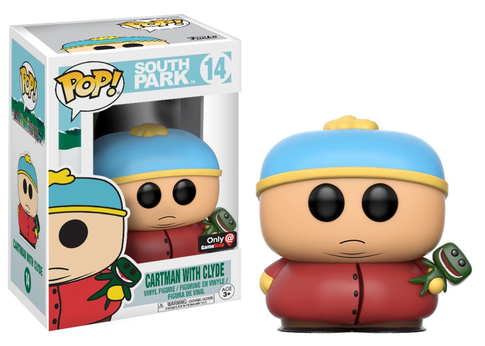 Funko Pop! South Park Vinyl Figures - Eric Cartman With Clyde