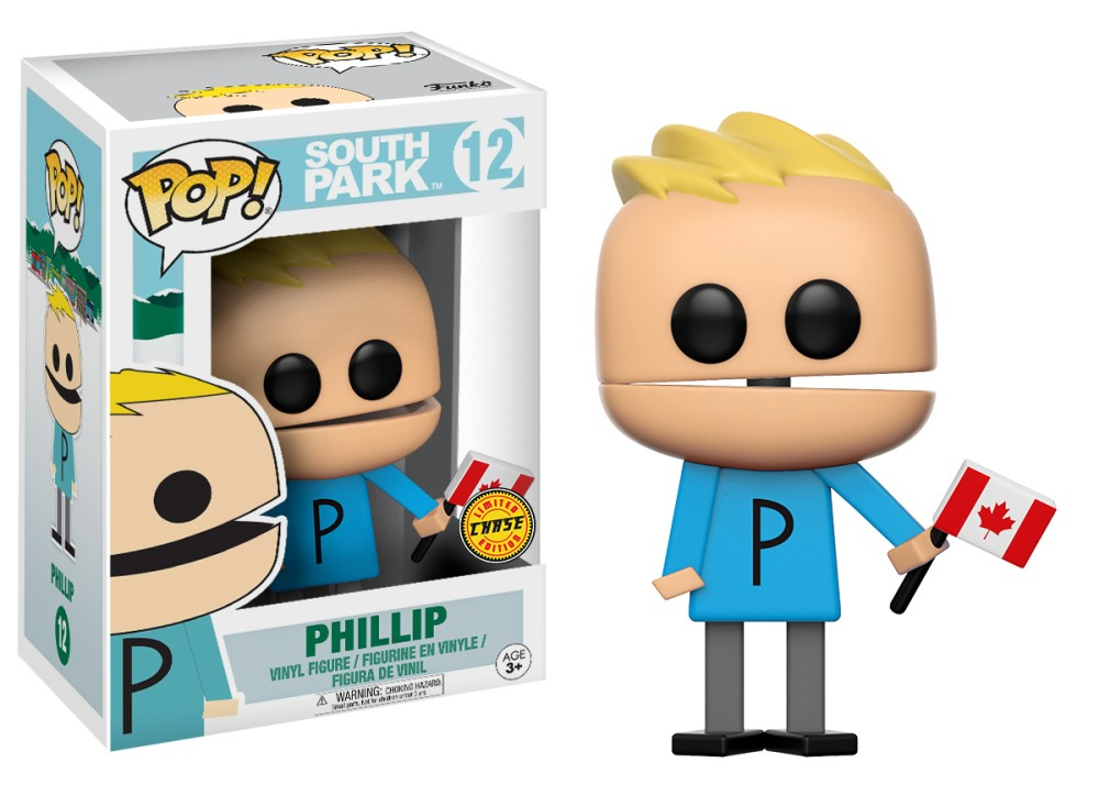 Funko Pop! South Park Vinyl Figures - Phillip Holding Canadian Flag