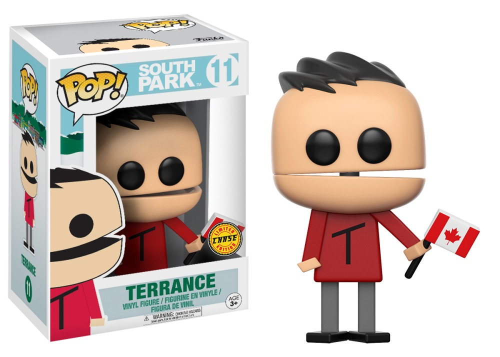 Funko Pop! South Park Vinyl Figures - Terrance With Canadian Flag