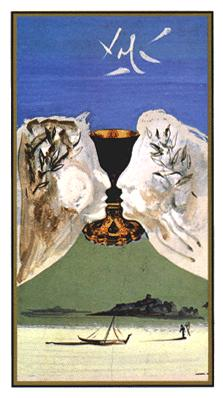 Salvador Dali's Universal Tarot Deck - Ace of Cups