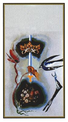 Salvador Dali's Universal Tarot Deck - Ace of Swords