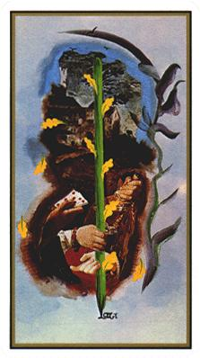 Salvador Dali's Universal Tarot Deck - Ace of Wands