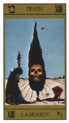 Salvador Dali's Universal Tarot Deck - Death