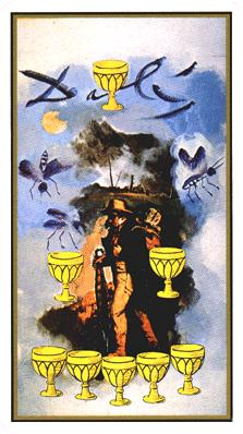 Salvador Dali's Universal Tarot Deck - Eight of Cups