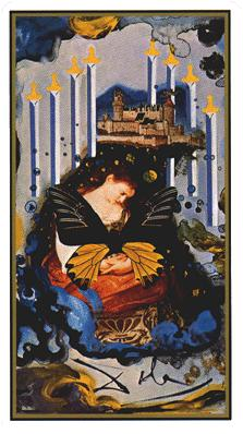 Salvador Dali's Universal Tarot Deck - Eight of Swords