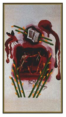 Salvador Dali's Universal Tarot Deck - Eight of Wands