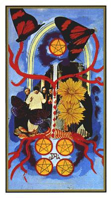 Salvador Dali's Universal Tarot Deck - Five of Coins