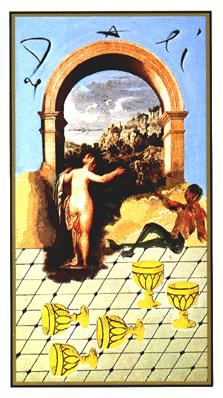 Salvador Dali's Universal Tarot Deck - Five of Cups