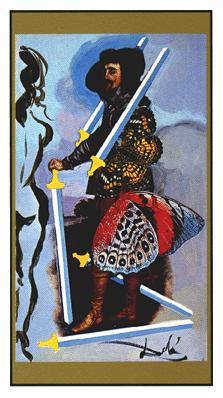 Salvador Dali's Universal Tarot Deck - Five of Swords