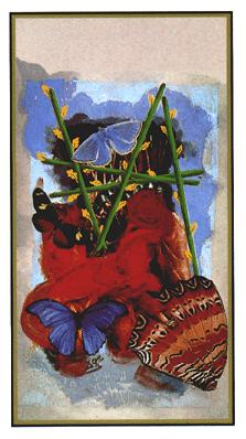 Salvador Dali's Universal Tarot Deck - Five of Wands