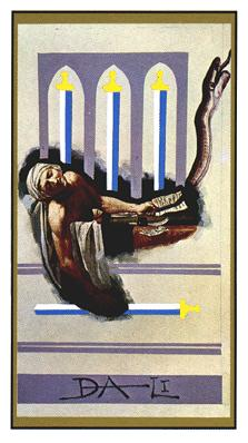 Salvador Dali's Universal Tarot Deck - Four of Swords