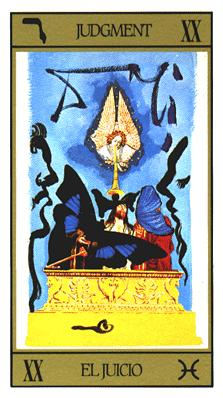Salvador Dali's Universal Tarot Deck - Judgment