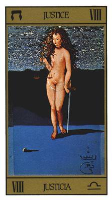 Salvador Dali's Universal Tarot Deck - Justice