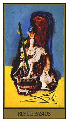 Salvador Dali's Universal Tarot Deck - King of Wands