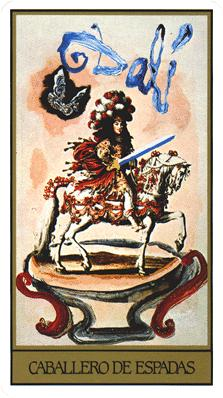 Salvador Dali's Universal Tarot Deck - Knight of Swords