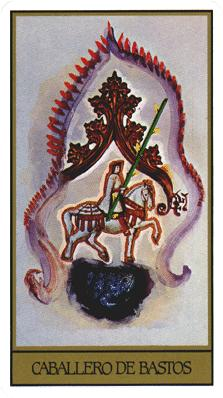 Salvador Dali's Universal Tarot Deck - Knight of Wands