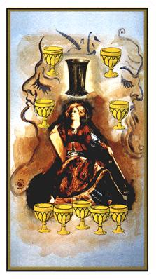 Salvador Dali's Universal Tarot Deck - Nine of Cups