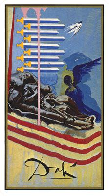 Salvador Dali's Universal Tarot Deck - Nine of Swords