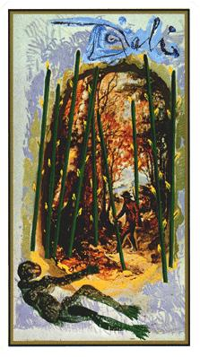 Salvador Dali's Universal Tarot Deck - Nine of Wands
