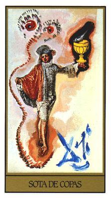Salvador Dali's Universal Tarot Deck - Page of Cups
